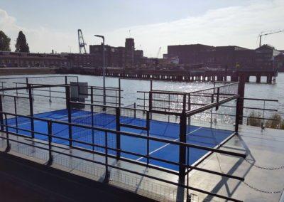 Drijvende padelbaan Rotterdam / 1 padelbaan
